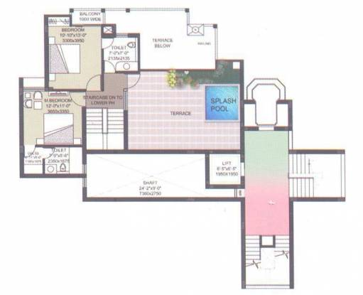 Samiah Melrose Avenue (2BHK+2T (1,450 sq ft) Apartment 1450 sq ft)