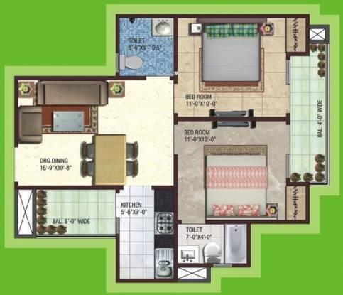 SG Impressions 58 (2BHK+2T (920 sq ft) Apartment 920 sq ft)