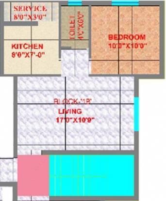 CC SP Palace (1BHK+1T (674 sq ft) Apartment 674 sq ft)