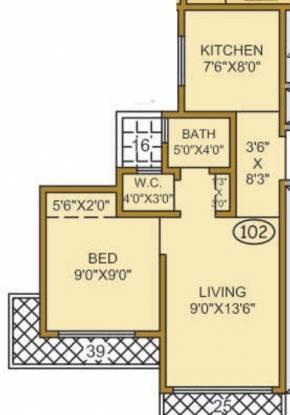 Parshva Konark Residency (1BHK+1T (616 sq ft) Apartment 616 sq ft)