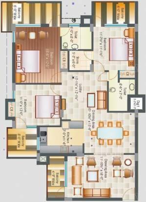 Chandigarh Savitry Heights II (3BHK+2T (1,650 sq ft) Apartment 1650 sq ft)