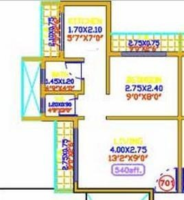 Shree Nilumi Shiv Prakash Residency (1BHK+1T (786 sq ft) Apartment 786 sq ft)