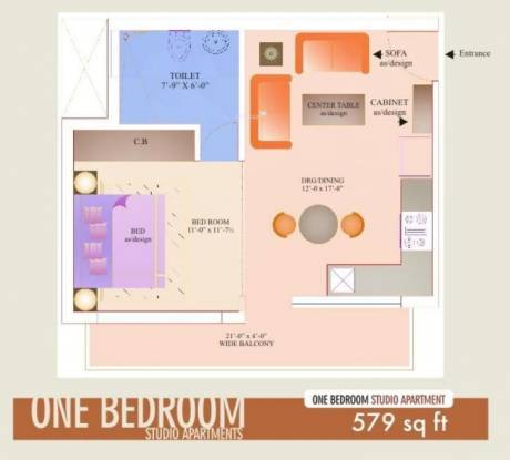 Bhakti Shiva Enclave (1BHK+1T (579 sq ft) Apartment 579 sq ft)