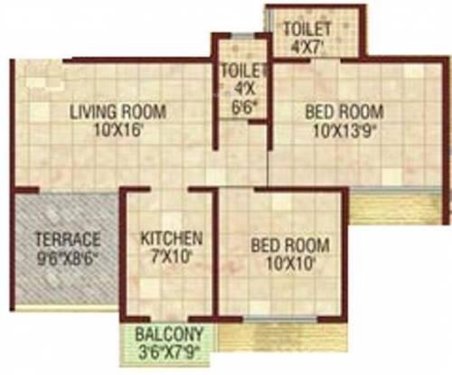 Shree 9 Krushna Kunj (2BHK+2T (845 sq ft) Apartment 845 sq ft)