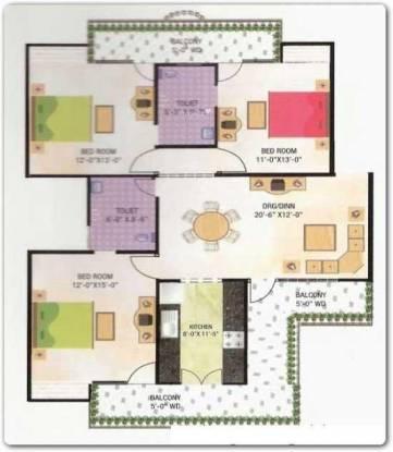 BCC Bharat Residency (3BHK+2T (1,760 sq ft) Apartment 1760 sq ft)