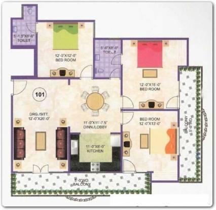 BCC Bharat Residency (3BHK+2T (1,800 sq ft) Apartment 1800 sq ft)