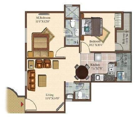 Sowparnika Sai Krishna (2BHK+2T (870 sq ft) Apartment 870 sq ft)