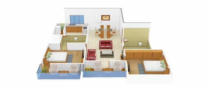 Kristal Dolomite (2BHK+2T (1,141 sq ft) Apartment 1141 sq ft)