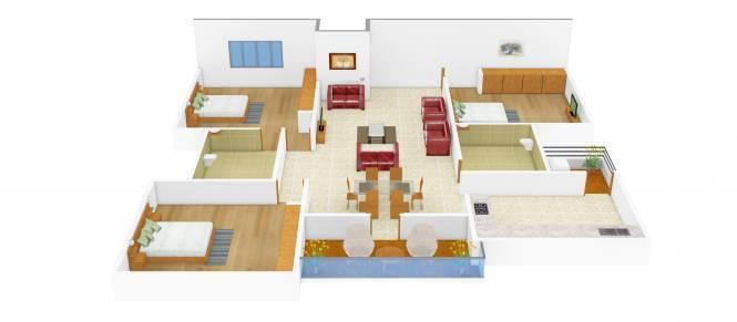Kristal Dolomite (3BHK+2T (1,331 sq ft) Apartment 1331 sq ft)
