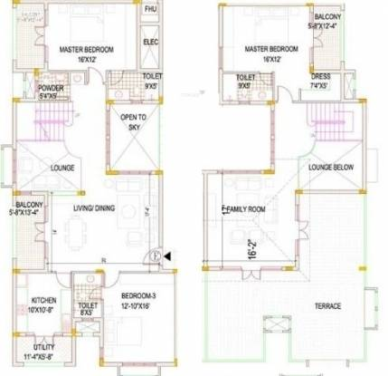 Devinarayan Whispering Meadows (3BHK+3T (2,953 sq ft) Apartment 2953 sq ft)