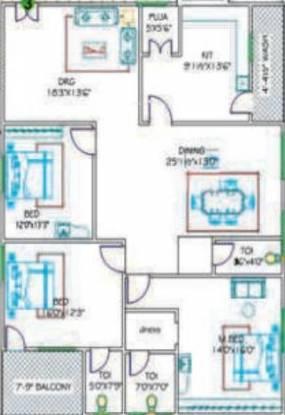 Kondaveedu Enclave (3BHK+3T (2,215 sq ft) Apartment 2215 sq ft)