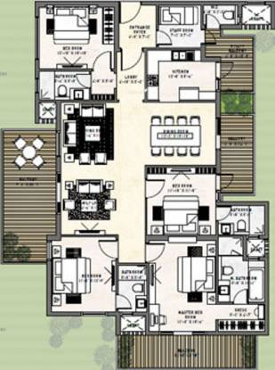 Puri Diplomatic Greens (4BHK+4T (2,950 sq ft) + Servant Room Apartment 2950 sq ft)