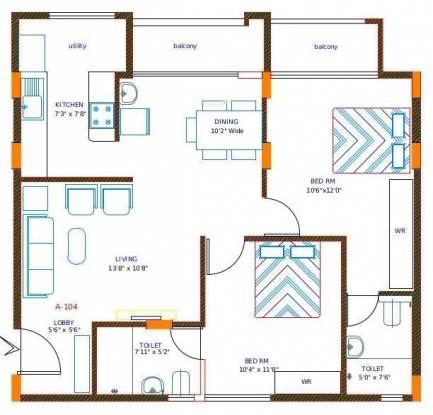 Manar Manha (2BHK+2T (1,228 sq ft) Apartment 1228 sq ft)