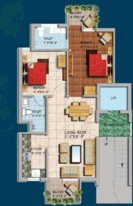 Genesis Gardenia (2BHK+2T (921 sq ft) Apartment 921 sq ft)