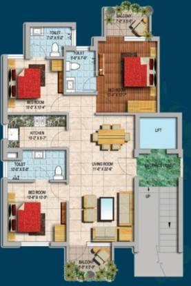 Genesis Gardenia (3BHK+3T (1,119 sq ft) Apartment 1119 sq ft)