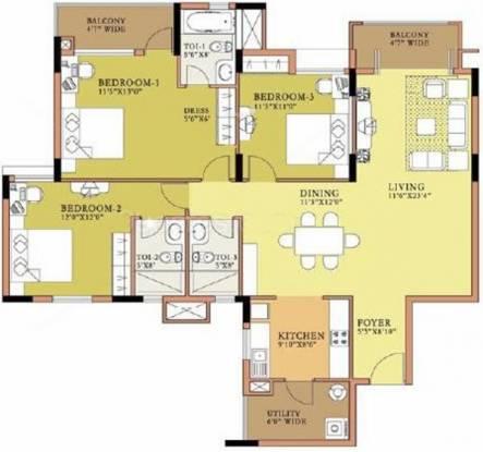 Salarpuria Sattva Symphony (3BHK+3T (1,782 sq ft) Apartment 1782 sq ft)