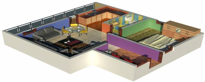 Arihant Nirmal Residency (1BHK+1T (674 sq ft) Apartment 674 sq ft)