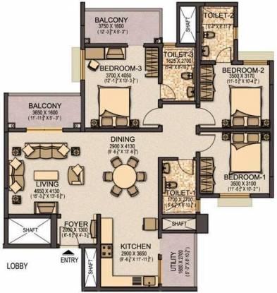 Sobha Elite (3BHK+3T (1,742 sq ft) Apartment 1742 sq ft)
