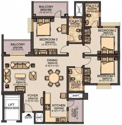 Sobha Elite (3BHK+3T (1,779 sq ft) Apartment 1779 sq ft)