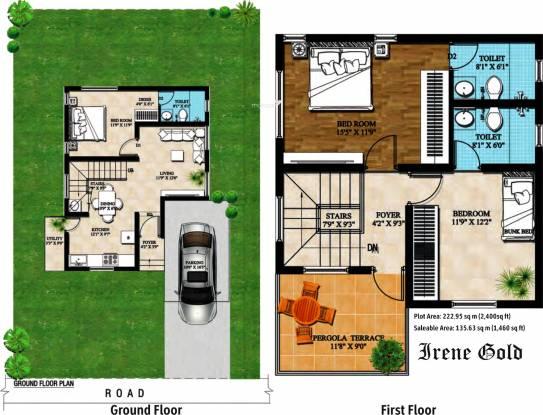 Artha Reviera (3BHK+3T (1,460 sq ft) Villa 1460 sq ft)