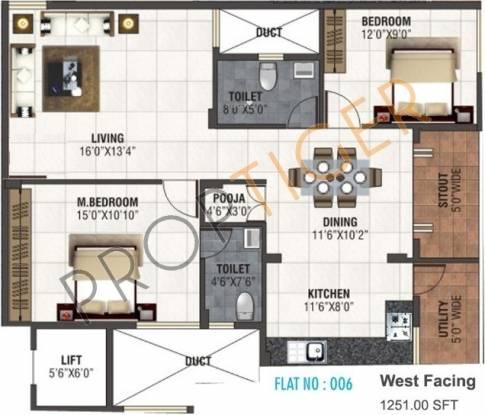 JS Saritha Elegance (2BHK+2T (1,251 sq ft) Apartment 1251 sq ft)