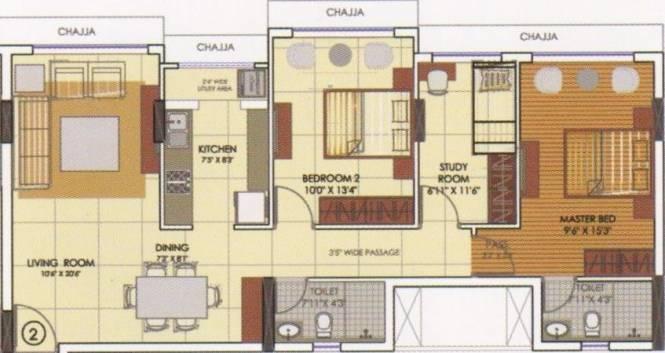 Runwal Elina (2BHK+2T (646.70 sq ft) Apartment 646.7 sq ft)