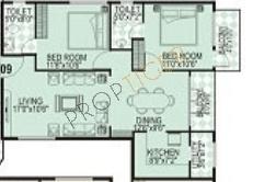 Maithri Shilphitha Splendour (2BHK+2T (1,078 sq ft) Apartment 1078 sq ft)