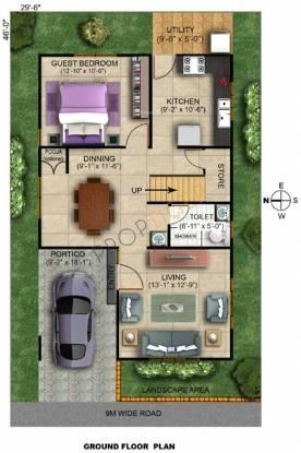 Pruksa Silvana (3BHK+3T (1,632 sq ft) + Study Room Villa 1632 sq ft)
