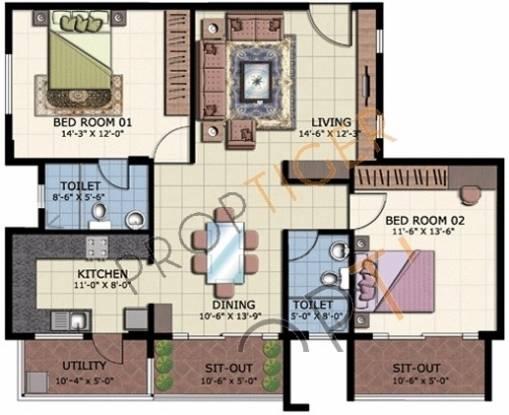 ATZ Splendor (2BHK+2T (1,305 sq ft) Apartment 1305 sq ft)