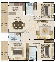 ATZ Grandeur (3BHK+3T (1,856 sq ft) Apartment 1856 sq ft)