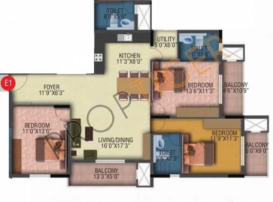 Veracious Vani Villas (3BHK+3T (1,630 sq ft) Apartment 1630 sq ft)