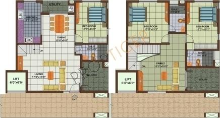 Astro Rosewood Regency (3BHK+3T (2,011 sq ft) Apartment 2011 sq ft)