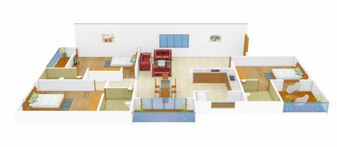 CMRS 12 Square (3BHK+3T (1,505 sq ft) Apartment 1505 sq ft)
