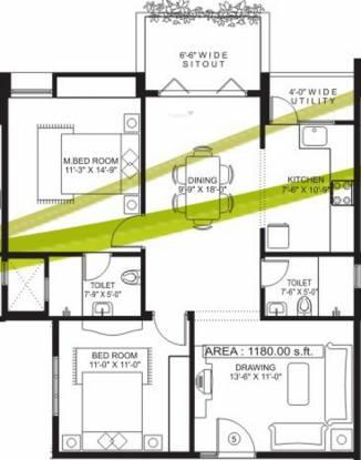 Sandeep Dhruva Apartment (2BHK+2T (1,180 sq ft) Apartment 1180 sq ft)