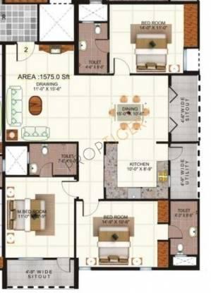 Saroj Epic (3BHK+3T (1,575 sq ft) Apartment 1575 sq ft)