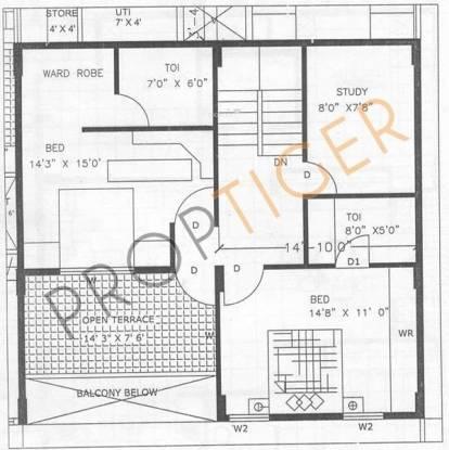 Elite Kempton Park Apartments (3BHK+3T (2,008 sq ft)   Study Room Apartment 2008 sq ft)