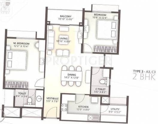 Goyal Orchid Enclave (2BHK+2T (1,320 sq ft) Apartment 1320 sq ft)