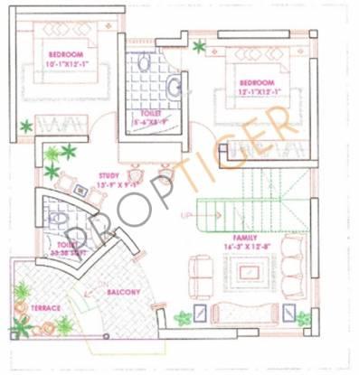 Jatti Dwarakamai (4BHK+4T (2,096 sq ft)   Study Room Villa 2096 sq ft)