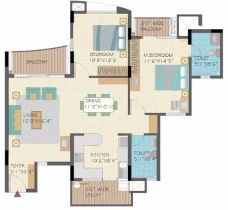 Nitesh Forest Hills (2BHK+2T (1,301 sq ft) Apartment 1301 sq ft)