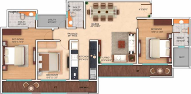 Neelkanth Enclave (3BHK+3T (1,527 sq ft) Apartment 1527 sq ft)