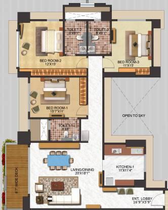 Neelkanth Royale (3BHK+3T (2,425 sq ft) Apartment 2425 sq ft)