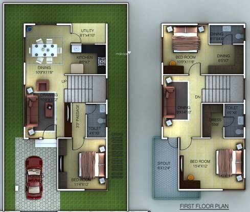 Golden Golden Homes (3BHK+3T (1,694 sq ft) Villa 1694 sq ft)