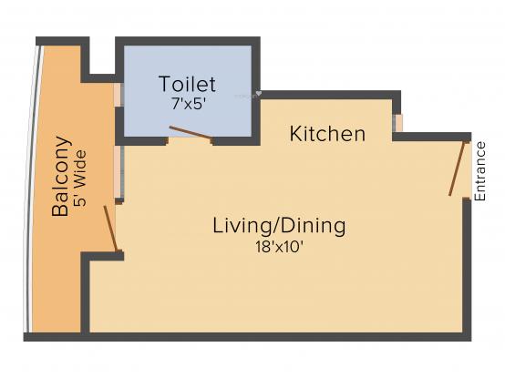 Supertech Ecosuites (1BHK+1T (440 sq ft) Apartment 440 sq ft)