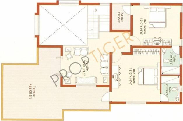 Prasiddhi Cloud 9 (3BHK+3T (2,800 sq ft)   Servant Room Villa 2800 sq ft)