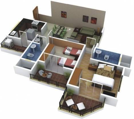 Vilas Javdekar Palash 2e (2BHK+2T (1,100 sq ft) Apartment 1100 sq ft)