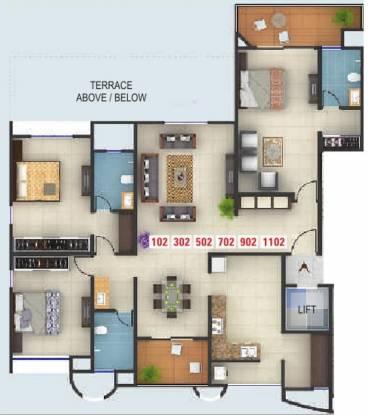 Kumar Karishma (3BHK+3T (2,132 sq ft) Apartment 2132 sq ft)