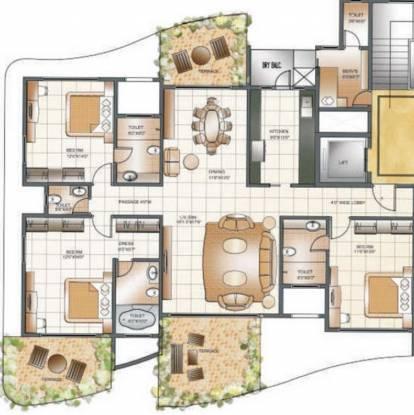 Supreme Pallacio (3BHK+4T (1,750 sq ft) + Servant Room Apartment 1750 sq ft)