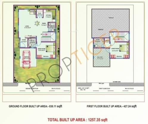 NBR Homes (2BHK+3T (1,257 sq ft) + Pooja Room Villa 1257 sq ft)