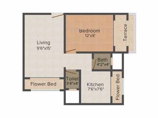 Tejas Palak (1BHK+1T (674 sq ft) Apartment 674 sq ft)