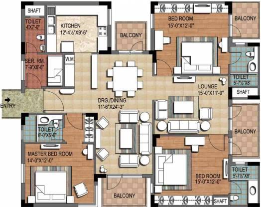 Ninex City (3BHK+3T (2,370 sq ft) + Servant Room Apartment 2370 sq ft)